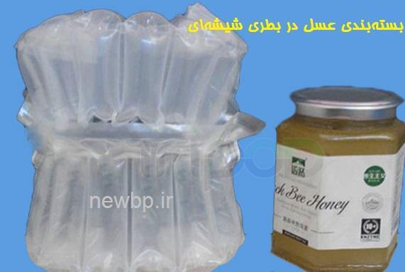 بستهبندی عسل در بطری شیشهای