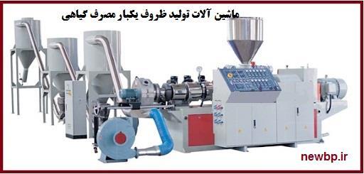 ماشین آلات تولید ظروف یکبار مصرف گیاهی
